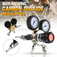 Dual Gauge CO2 Regulator Beer Carbon Dioxide Bar Soda Draft Beer Home Brew   f