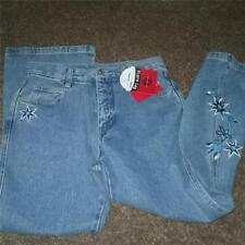 0e6d4ab23768d NEW GIRLS ARIZONA PLUS SIZE BLUE JEANS EMBRODERIED FLARE LEG SIZE 10.5