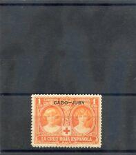 CAPE JUBY Sc B1(SG 23)**VF NH 1926 1c RED ORANGE, RED CROSS, $65