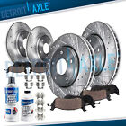 Front Rear Drilled Rotors + Ceramic Pads for Toyota Camry Avalon ES350 ES300h