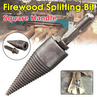 Square Handle High Speed Wood Splitter Screw Cones Firewood Splitting Drill Bit