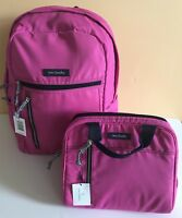 NWT VERA Bradley Lighten Up Small Backpack & Lunch Cooler in Bright Orchid