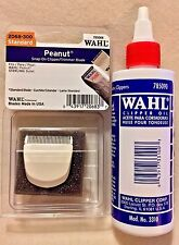 WAHL PROFESSIONAL PEANUT TRIMMER BLADE WHITE #2068-300 PLUS WAHL BLADE OIL 4 OZ