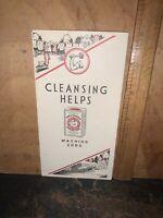 1935 Arm & Hammer Baking Washing Soda Brochure Advertising Cleansing Helps.
