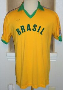 VTG ADIDAS BRAZIL BRASIL ROMARIO OLYMPICS 1988 SOCCER JERSEY FOOTBALL SHIRT RARE