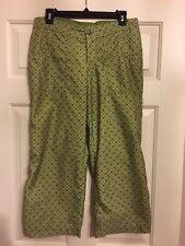 Ladies Prana Size M, Yellow Green Crop PantsGood outdoor