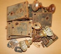 Estate Lot Architectural Salvage Glass Door Knobs Plates