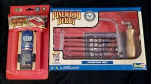 New Revell Pinewood Derby Carving Set & New Pinewood Derby Tech Station Lot of 2