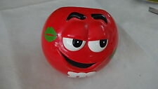 M & M Candy Dispenser Open Bowl Red Cute Smile Kiss On Cheek 2003