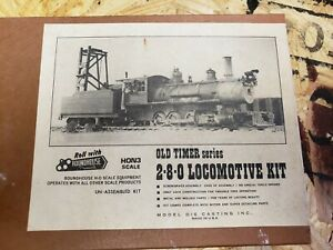 H0N3 Old Timer 2-8-0 DRGW Rio Grande Locomotive kit by roundhouse