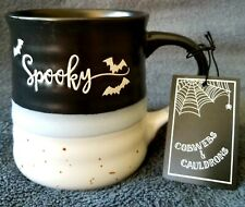 NEW Cobwebs & Cauldrons Spooky Halloween Stoneware Mug Coffee Cup