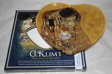 Gustav Klimt Schale Der Kuß 1.Wahl Glasschale 25x23cm Platte The Kiss herzförmig