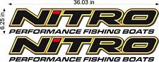 "NITRO Boats Logo / PAIR / 36"" Vinyl Watercraft Vehicle Graphic Decal Stickers"
