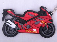 SUZUKI GSXR 1000 ROUGE K7 8 Porte-clés Anneau Chaîne Keyfob moto gaz d'échappement du moteur 3D