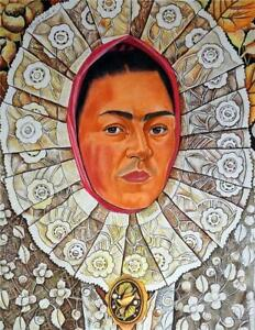 FRIDA KAHLO / Authentic Mixed Media Drawing on Paper, Art Signed & Dated 41