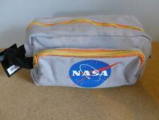OFFICIAL LICENCED NASA WASHBAG. GREY CANVAS. ZIPPED. APOLLO XV. ROCKET
