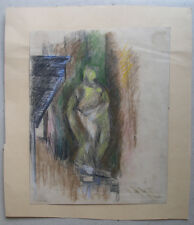 Cubist depiction of nude sculpture. Signed and dated 1923