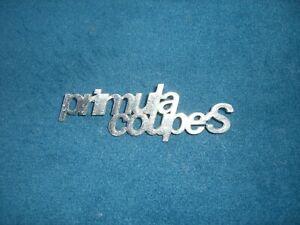 Emblem Badge Autobianchi Primula Coupé S aus Metall, ca. 110 x 30 mm