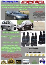 Holden Commodore VT/VX/VY/VZ Genuine Sheepskin Car Seat Covers Pr 27MM AbagSafe