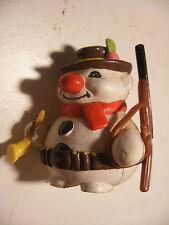 Vintage PVC RODA VOINSON BOULI Le BONHOMME de NEIGE Snowman Chasseur