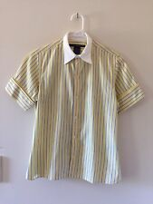 Womens Ralph Lauren Golf 100% Cotton Short Sleeve Shirt Blouse Top Yellow Size 6
