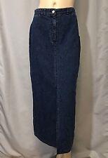 PENDLETON Originals Modest Sz 8 Lite Denim Pencil Skirt Floral Stitching Blue