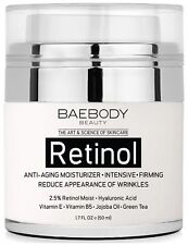 Baebody Retinol Moisturizer Cream for Face Eye Area Anti Aging Face Eyes 50mL