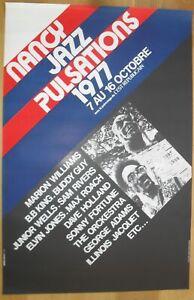 B.B. KING SONNY FORTUNE WELLS SHEPP jazz blues ORIGINAL concert poster '77 NANCY