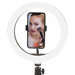 12'' Ring Light with Tripod Stand Phone Holder Desk Makeup Video Selfie Tiktok