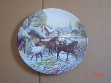 Wedgwood Limited Edition Collectors Plate CHRISTMAS VISITORS Ponies
