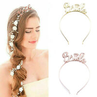 Bride Bridesmaid Tiara Crown Headband Bachelorette Party Bridal Shower Girl Gift