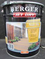 BERGER BY DULUX 10 LITRE JET-DRY NONSLIP PAVING OIL/BASE AMBER COLOUR PAINT