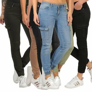 Only Damen Cargohose Jeans Damenhose Cargo Damenjeans knöchellang Missouri Ankle