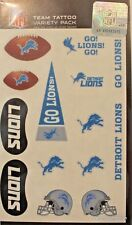 Detroit Lions Temporary Tattoo Nfl Game Day Party Face Licensed Football