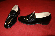 BALLY MENS Slip on Smart Shoes BLACK LEATHER Italy made UK SIZE 6 EXCELLENT