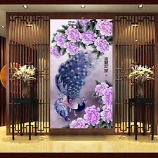5D DIY Diamond Embroidery Painting Cross Stitch Flower Peony Peacock Home Decor
