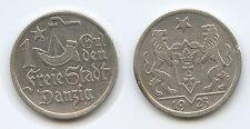 G3875 - Polen Danzig 1 Gulden 1923 KM#145 Silber Poland Polskich Polska