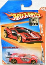HOT WHEELS 2010 TRACK STARS IMPAVIDO 1 #04/12 RED FACTORY SEALED W+