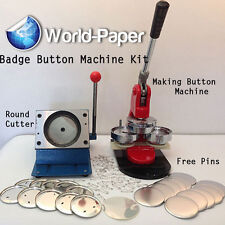 "3"" Button Maker Machine + 1,000 Buttons + Circle Cutter Usa Best Price :)"