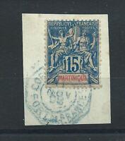 "Martinique N°36 Obl (FU) 1892 - Cachet ""Coor d'armée Fort de France"""