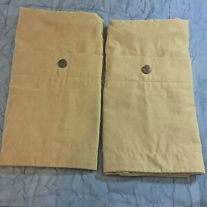 """2 Pillow Shams, 28"""" x 22"""" Earth Tone Suede Color Front Buttons Home Collection"""