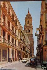 POSTAL MALAGA CALLE MOLINA LARIOS CATEDRAL ANDALUCIA POSTCARD POSTKARTE  CC03387