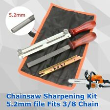 "5Pcs/set Chainsaw Sharpening Filing Kit 5.2mm File Fit for Stihl 3/8"" Pro Chain"