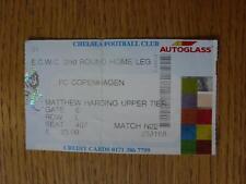 22/10/1998 Biglietto: Chelsea V Copenaghen [Europeo COPPA DELLE COPPE CUP] data non Prin