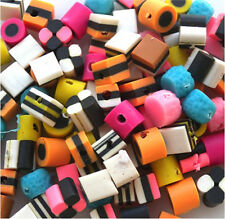 BULK 100 miste piccole FIMO POLY Bertie bassetts LIQUIRIZIA Allsorts beads