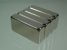"4pcs/lot N52 1""*1/2""*1/4"" Neodymium Permanent super strong Magnets rare earth"