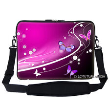 "17.3"" Laptop Computer Sleeve Case Bag w Hidden Handle & Shoulder Strap  2502"