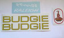 "Raleigh ""BUDGIE"" bike decals/stickers set (YELLOW/WHITE)"