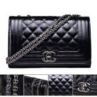 New Fashion Women Black Shoulder Bag Quilting Chain Cross Ladies Gift Handbag