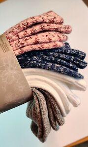 4-Pair Women's Soft Warm Cozy Comfortable Socks Carole Hochman Size 4-10 NEW!